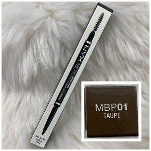 4/$20 NYX Micro Brow Pencil & Brush MBP01 Taupe